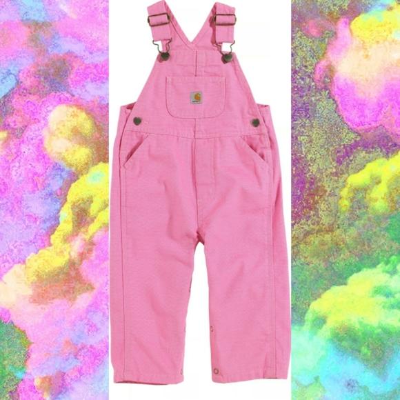 Carhartt Pink Bib Overalls Infant//Toddler//Kids Sizes CM9626 NWT